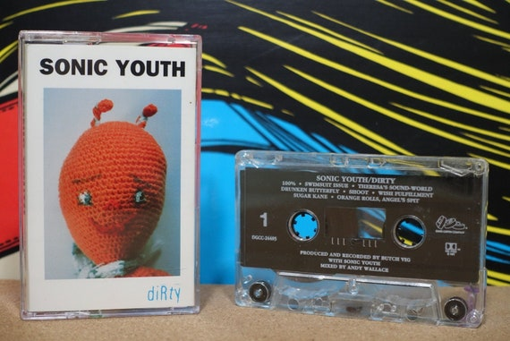 Sonic Youth - Dirty Cassette Tape - 1983 DGC Records - Vintage Analog Music