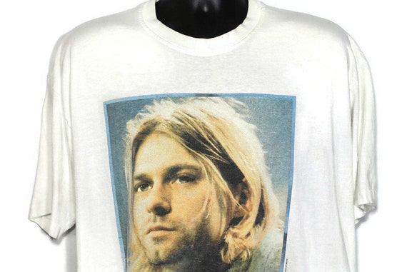 1994 Kurt Cobain Nirvana Vintage T Shirt The End of Music 1967 - 1994 Grunge Alternative 2 Sided Original 90s Artwork Band T-Shirt