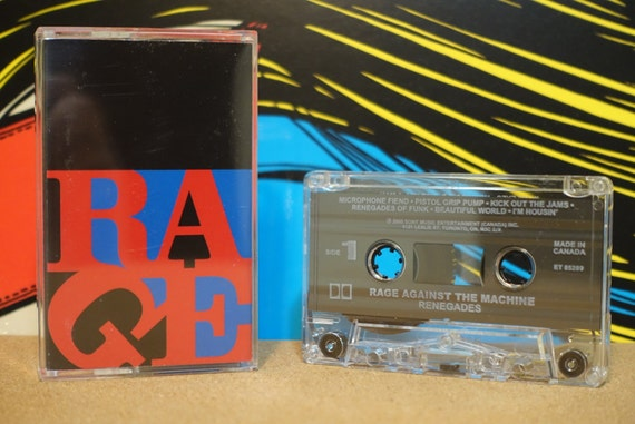 Renegades by Rage Against The Machine Vintage Cassette Tape