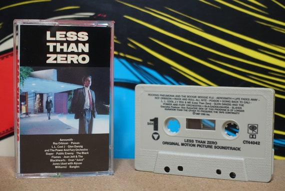 Less Than Zero (Original Motion Picture Soundtrack) by Various Artists Vintage Cassette Tape