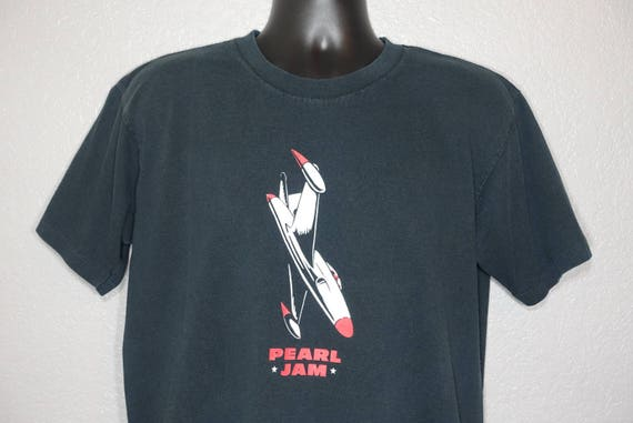 1998 RARE Pearl Jam - Blackbox Jet Airplane Double-Sided Vintage Concert T-Shirt
