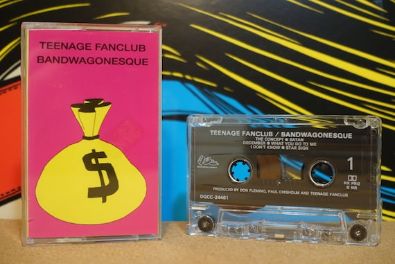 Teenage Fanclub - Bandwagonesque Cassette Tape - 1991 DGC Records - Vintage Analog Music