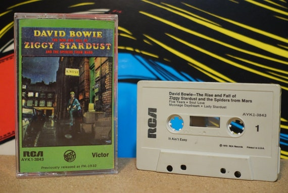 The Rise And Fall Of Ziggy Stardust And The Spiders From Mars (RARE Green Cover) by David Bowie Vintage Cassette Tape