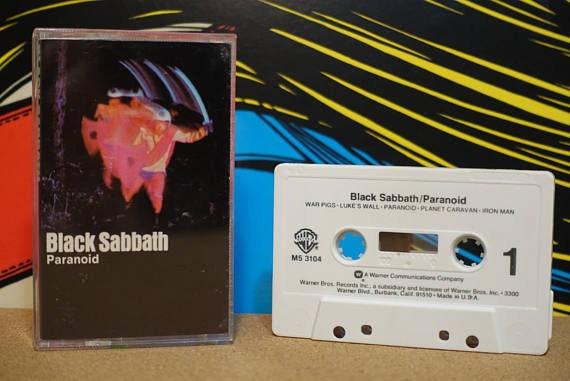 Black Sabbath - Paranoid Cassette Tape - 1970 Warner Bros Records Vintage Analog Music