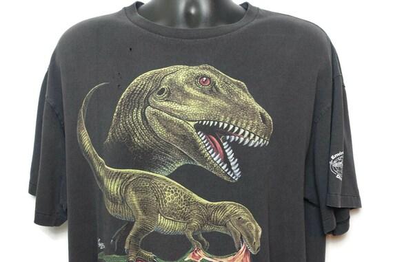 90s Dinosaur T Rex Vintage T Shirt Jurassic Park Era - Tyrannosaurus Environmental Artwear Dino Wear Original 90s Vintage T-Shirt