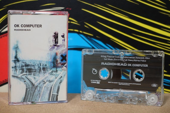 OK Computer by Radiohead Vintage Cassette Tape