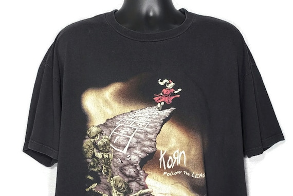 1998 Korn Follow The Leader Double Sided Giant Branded Vintage Concert T-Shirt