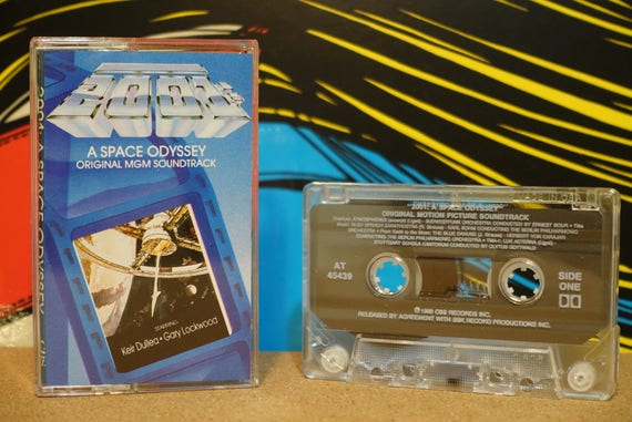 2001: A Space Odyssey (Original MGM Soundtrack) by Various Artists Vintage Cassette Tape