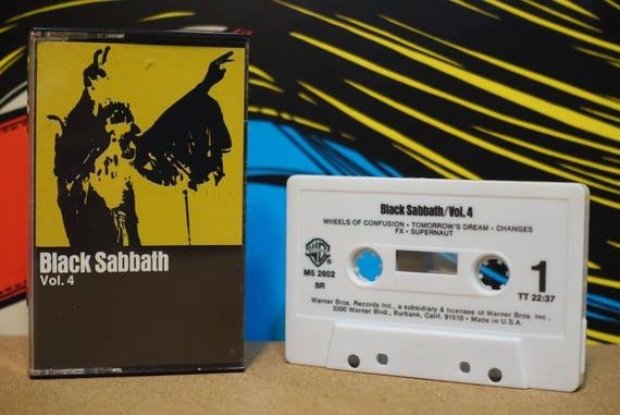 Black Sabbath Vol. 4 by Black Sabbath Vintage Cassette Tape
