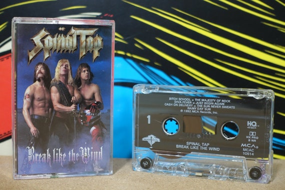 Break Like The Wind by Spinal Tap Vintage Cassette Tape