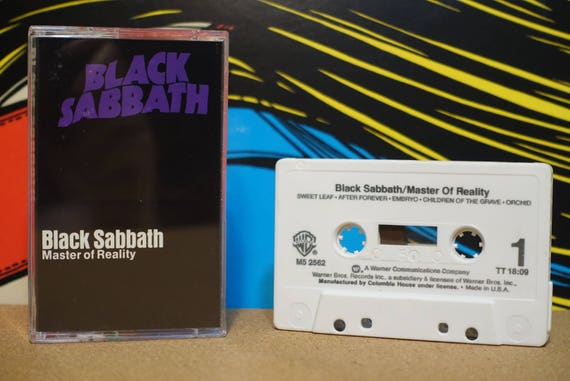 Master Of Reality by Black Sabbath Vintage Cassette Tape