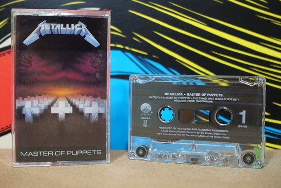Metallica - Master Of Puppets Cassette Tape - 1986 Elektra Records Vintage Analog Music