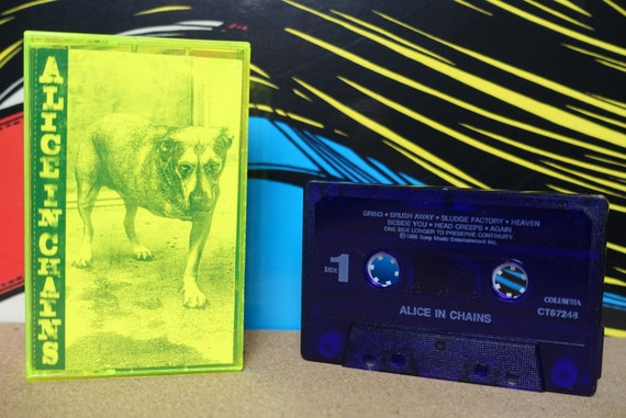 Alice In Chains Cassette Tape - 1995 Columbia Records Vintage Grunge Analog Music