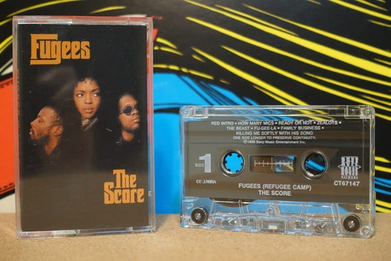 The Score by The Fugees Vintage Cassette Tape