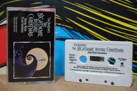 Tim Burton's The Nightmare Before Christmas (Original Motion Picture Soundtrack) By Danny Elfman Vintage Cassette Tape