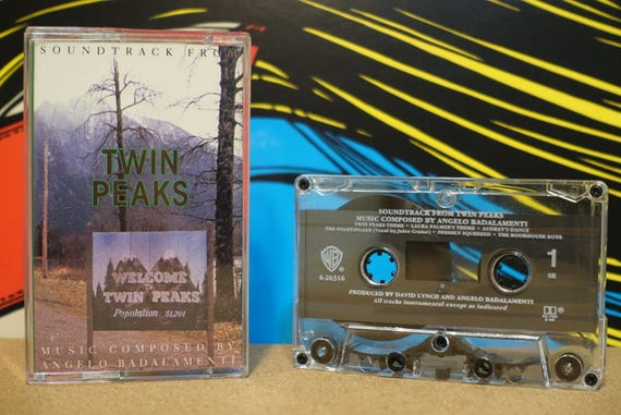 Soundtrack From Twin Peaks by Angelo Badalamenti Vintage Cassette Tape