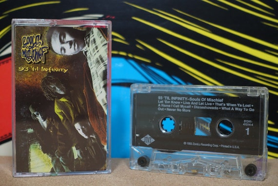 93 'Til Infinity by Souls Of Mischief Vintage Cassette Tape