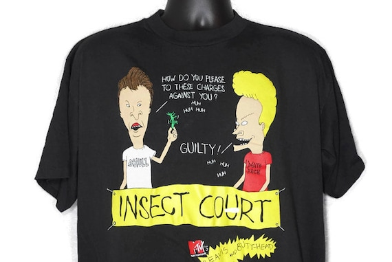 Vintage Original 90s 1993 Beavis And Butt-Head Insect Court MTV CULT TV Show - Stanley Desantis Vintage T-Shirt