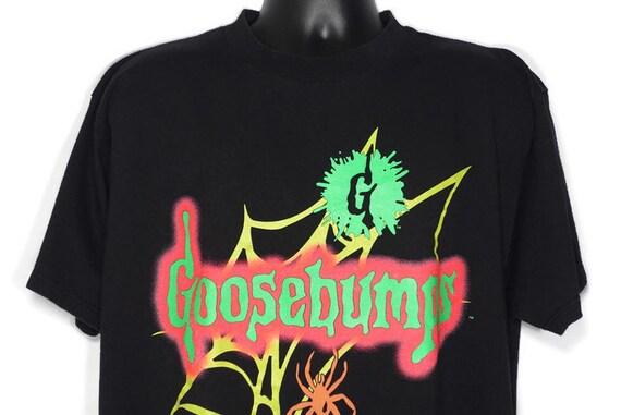 1995 RARE Goosebumps - Spiderweb Logo - RL Stine Book Cult Horror Vintage T-Shirt