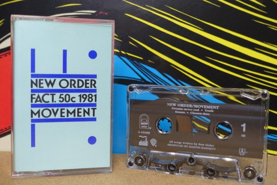 New Order - Movement Cassette Tape - 1993 Qwest Records Vintage Analog Music