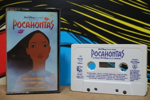Pocahontas (An Original Walt Disney Records Soundtrack) by Alan Menken, Stephen Schwartz Vintage Cassette Tape