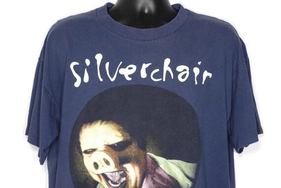 1995 RARE Silverchair - Pigface Frogstomp Era World Tour '95 GRUNGE  Double-Sided Concert Vintage T-Shirt