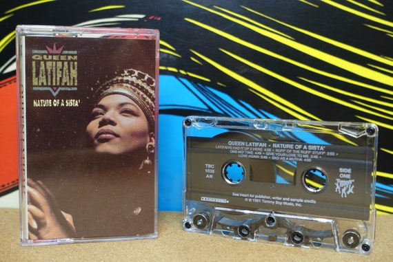 Queen Latifah Cassette Tape, Nature Of A Sista, Hip Hop, 90s Cassette Tapes, 1991 Tommy Boy Records, Music Lover Gift, Vintage Analog Music