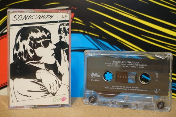 Sonic Youth - Goo Cassette Tape - 1990 DGC Records - Vintage Analog Music