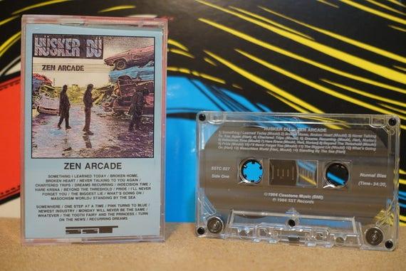 Zen Arcade by Hüsker Dü Vintage SST Records Cassette Tape