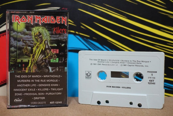 Killers by Iron Maiden Vintage Cassette Tape