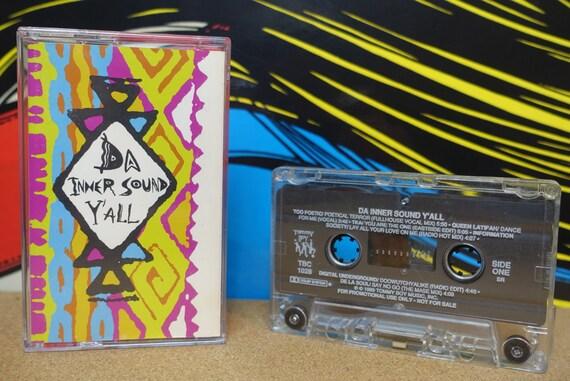 Da Inner Sound Y'All - Cassette Tape De La Soul Queen Latifah 1989 Tommy Boy Records Vintage Analog Hip Hop Rap Music