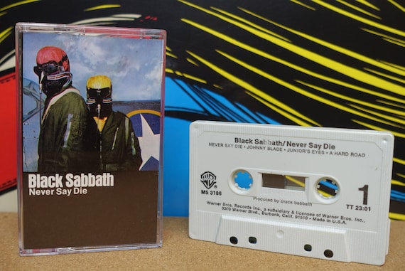 Black Sabbath - Never Say Die Cassette Tape - 1978 Warner Bros Records Vintage Analog Music