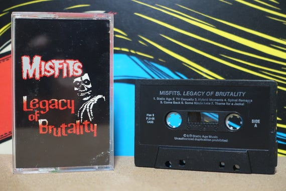 Legacy Of Brutality by Misfits Vintage Cassette Tape