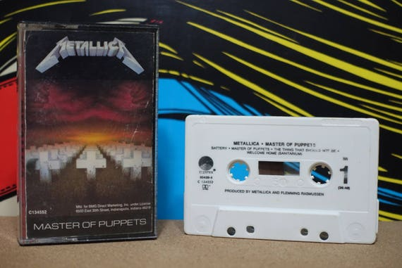 Master Of Puppets by Metallica Vintage Cassette Tape
