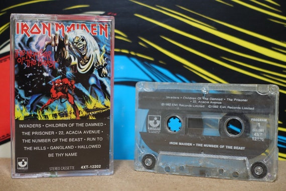 The Number Of The Beast by Iron Maiden Vintage Cassette Tape