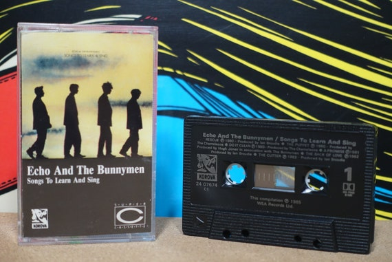 Songs To Learn (Canadian Pressing) & Sing by Echo and The Bunnymen Vintage Cassette Tape