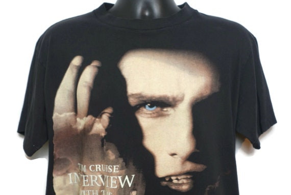 1994 Interview With The Vampire Vintage T Shirt - Tom Cruise - Drink Me Live Forever 2 Sided Cult Movie Tee Vintage T-Shirt