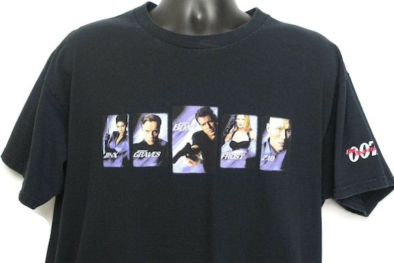 2000s James Bond 007 Vintage T Shirt - Halle Berry JINX Pierce Brosnan ZAO - Die Another Day - Cult 00s Action Movie Tee T-Shirt