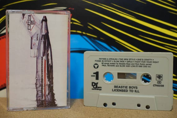 Licensed To Ill by Beastie Boys Vintage Cassette Tape