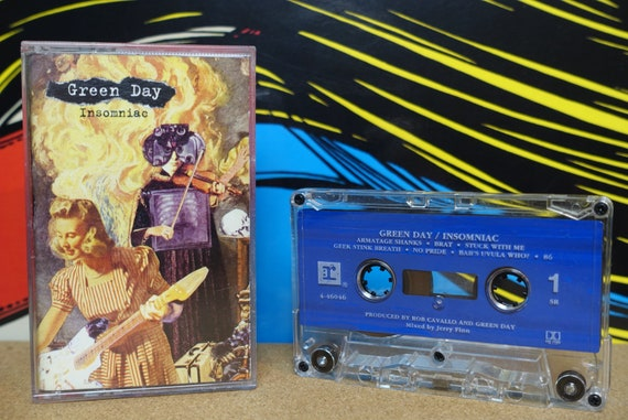 Green Day - Insomniac Cassette Tape - 1995 Reprise Records Vintage Analog Pop Punk Music