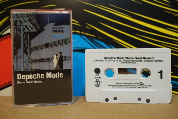 Depeche Mode - Some Great Reward Cassette Tape - 1984 Sire Records - Vintage Analog Music