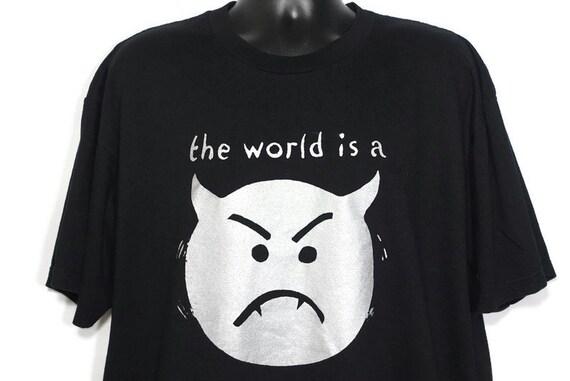 1996 Smashing Pumpkins Vintage T Shirt The World is a Vampire Mellon Collie Infinite Sadness Tour 2-Sided Original 90s Concert Band T-Shirt