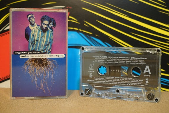 Digable Planets - Reachin' (A New Refutation Of Time And Space) Cassette Tape - 1993 Pendulum Records Vintage Analog Music