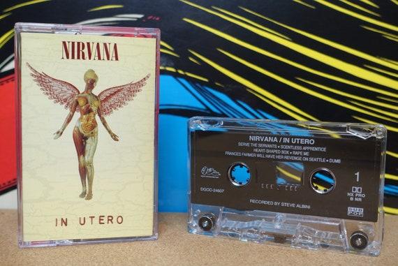 Nirvana - In Utero Cassette Tape - 1993 DGC Records - Vintage Analog Grunge Music