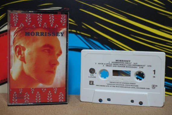 Morrissey - Interesting Drug Cassette Tape - 1989 Reprise Records - Vintage Analog Music