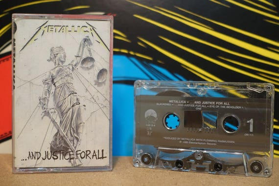 And Justice For All by Metallica Vintage Cassette Tape