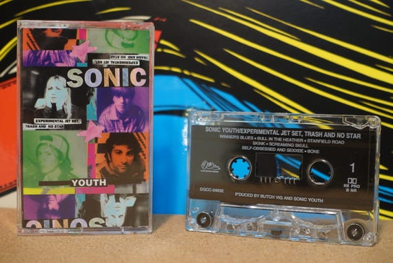 Experimental Jet Set, Trash And No Star by Sonic Youth Vintage Cassette Tape