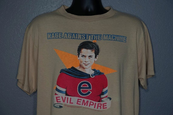 1996 RARE Rage Against The Machine - Evil Empire - Double Sided Fear is Your Only God - Crimebusters Concert Vintage T-Shirt