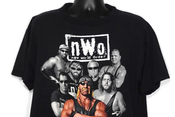 Vintage Original 90s 1998 New World Order - NWO Hollywood Hulk Hogan - Scott Hall - Kevin Nash - WCW Wrestling Cult 90s TV Vintage T-Shirt