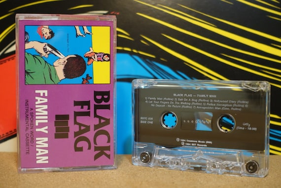 Family Man by Black Flag Vintage Cassette Tape